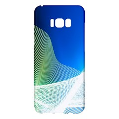 Light Means Net Pink Rainbow Waves Wave Chevron Green Blue Samsung Galaxy S8 Plus Hardshell Case  by Mariart