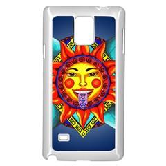 Aztec Sun Stone Samsung Galaxy Note 4 Case (white) by retz