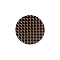 Houndstooth1 Black Marble & Brown Colored Pencil Golf Ball Marker (10 Pack) by trendistuff