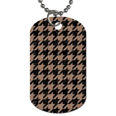 Houndstooth1 Black Marble & Brown Colored Pencil Dog Tag (two Sides) by trendistuff