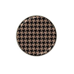 Houndstooth1 Black Marble & Brown Colored Pencil Hat Clip Ball Marker (4 Pack) by trendistuff