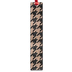 Houndstooth1 Black Marble & Brown Colored Pencil Large Book Mark by trendistuff