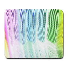 Light Means Net Pink Rainbow Waves Wave Chevron Green Large Mousepads by Mariart