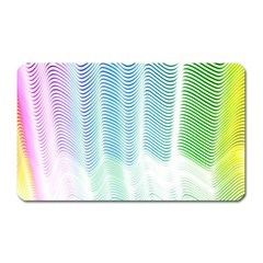 Light Means Net Pink Rainbow Waves Wave Chevron Green Magnet (rectangular) by Mariart