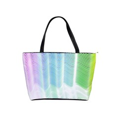 Light Means Net Pink Rainbow Waves Wave Chevron Green Shoulder Handbags by Mariart