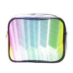 Light Means Net Pink Rainbow Waves Wave Chevron Green Mini Toiletries Bags by Mariart