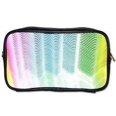 Light Means Net Pink Rainbow Waves Wave Chevron Green Toiletries Bags by Mariart