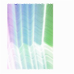 Light Means Net Pink Rainbow Waves Wave Chevron Green Large Garden Flag (two Sides) by Mariart