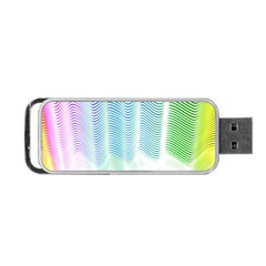 Light Means Net Pink Rainbow Waves Wave Chevron Green Portable Usb Flash (two Sides) by Mariart