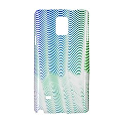 Light Means Net Pink Rainbow Waves Wave Chevron Green Samsung Galaxy Note 4 Hardshell Case by Mariart