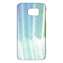 Light Means Net Pink Rainbow Waves Wave Chevron Green Galaxy S6 by Mariart