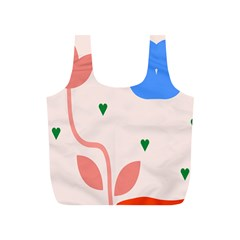 Lip Sexy Flower Tulip Heart Pink Red Blue Green Love Full Print Recycle Bags (s)  by Mariart