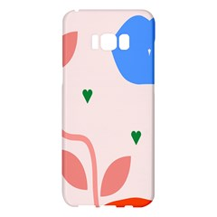 Lip Sexy Flower Tulip Heart Pink Red Blue Green Love Samsung Galaxy S8 Plus Hardshell Case  by Mariart