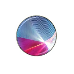 Light Means Net Pink Rainbow Waves Wave Chevron Red Hat Clip Ball Marker (4 Pack) by Mariart