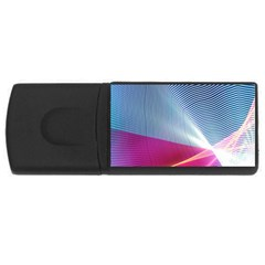 Light Means Net Pink Rainbow Waves Wave Chevron Red Usb Flash Drive Rectangular (4 Gb) by Mariart