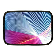 Light Means Net Pink Rainbow Waves Wave Chevron Red Netbook Case (medium)  by Mariart