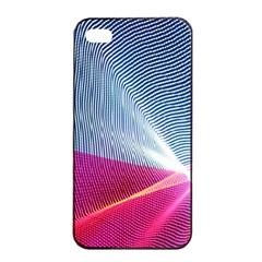 Light Means Net Pink Rainbow Waves Wave Chevron Red Apple Iphone 4/4s Seamless Case (black) by Mariart