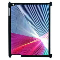 Light Means Net Pink Rainbow Waves Wave Chevron Red Apple Ipad 2 Case (black) by Mariart