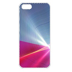 Light Means Net Pink Rainbow Waves Wave Chevron Red Apple Iphone 5 Seamless Case (white) by Mariart