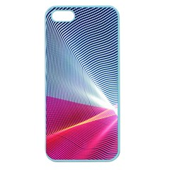 Light Means Net Pink Rainbow Waves Wave Chevron Red Apple Seamless Iphone 5 Case (color) by Mariart