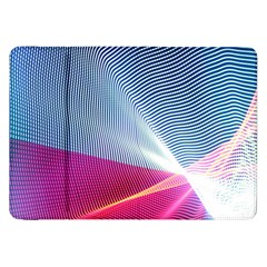 Light Means Net Pink Rainbow Waves Wave Chevron Red Samsung Galaxy Tab 8 9  P7300 Flip Case by Mariart