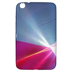 Light Means Net Pink Rainbow Waves Wave Chevron Red Samsung Galaxy Tab 3 (8 ) T3100 Hardshell Case  by Mariart