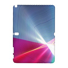 Light Means Net Pink Rainbow Waves Wave Chevron Red Galaxy Note 1 by Mariart