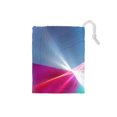 Light Means Net Pink Rainbow Waves Wave Chevron Red Drawstring Pouches (small)  by Mariart
