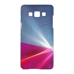 Light Means Net Pink Rainbow Waves Wave Chevron Red Samsung Galaxy A5 Hardshell Case  by Mariart