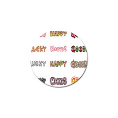Lucky Happt Good Sign Star Golf Ball Marker (4 Pack) by Mariart