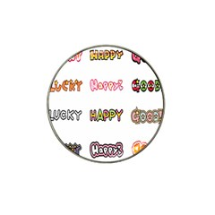 Lucky Happt Good Sign Star Hat Clip Ball Marker (4 Pack) by Mariart
