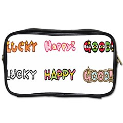 Lucky Happt Good Sign Star Toiletries Bags 2 Side by Mariart