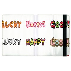 Lucky Happt Good Sign Star Apple Ipad 3/4 Flip Case by Mariart