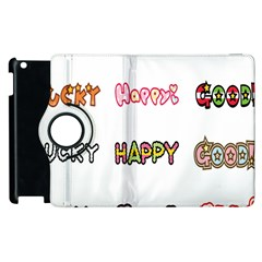 Lucky Happt Good Sign Star Apple Ipad 3/4 Flip 360 Case by Mariart