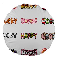 Lucky Happt Good Sign Star Large 18  Premium Round Cushions by Mariart