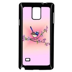 Little Blue Wren Samsung Galaxy Note 4 Case (black) by retz