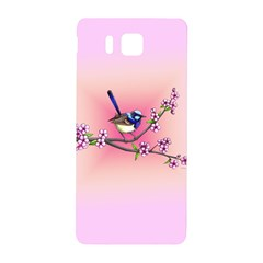 Little Blue Wren Samsung Galaxy Alpha Hardshell Back Case by retz