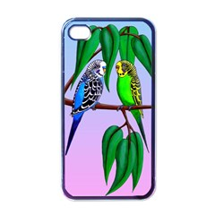 Budgies In The Gum Tree Apple Iphone 4 Case (black) by retz