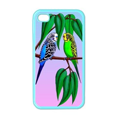 Budgies In The Gum Tree Apple Iphone 4 Case (color) by retz