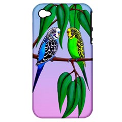 Budgies In The Gum Tree Apple Iphone 4/4s Hardshell Case (pc+silicone) by retz