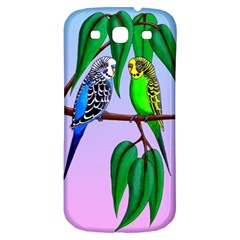 Budgies In The Gum Tree Samsung Galaxy S3 S Iii Classic Hardshell Back Case by retz