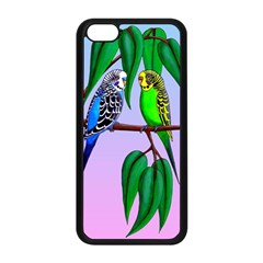 Budgies In The Gum Tree Apple Iphone 5c Seamless Case (black) by retz