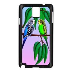 Budgies In The Gum Tree Samsung Galaxy Note 3 N9005 Case (black) by retz