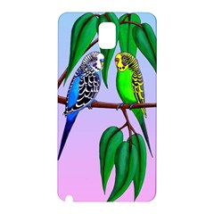 Budgies In The Gum Tree Samsung Galaxy Note 3 N9005 Hardshell Back Case by retz