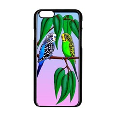 Budgies In The Gum Tree Apple Iphone 6/6s Black Enamel Case by retz