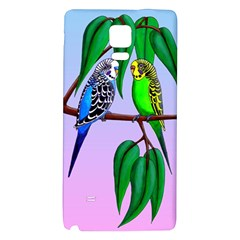 Budgies In The Gum Tree Galaxy Note 4 Back Case by retz