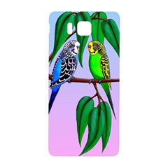 Budgies In The Gum Tree Samsung Galaxy Alpha Hardshell Back Case by retz