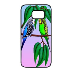 Budgies In The Gum Tree Samsung Galaxy S7 Edge Black Seamless Case by retz