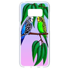 Budgies In The Gum Tree Samsung Galaxy S8 White Seamless Case by retz