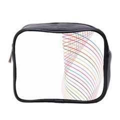 Line Wave Rainbow Mini Toiletries Bag 2 Side by Mariart